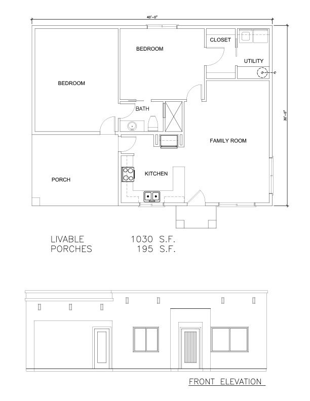 Guest Houses 1030 SF – Welcome to Plans by Dean Drosos