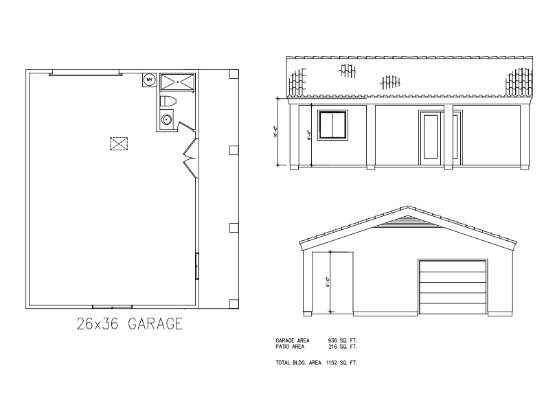 Garages 26 36 welcome to plans by dean drosos for 26 x 36 garage