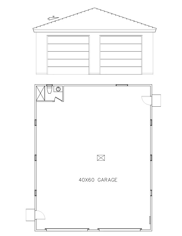 garages 40 60 welcome to plans by dean drosos. Black Bedroom Furniture Sets. Home Design Ideas