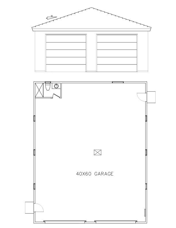 Garages 40 60 welcome to plans by dean drosos for Beistelltisch 60 x 40